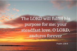 Fulfill His purpose