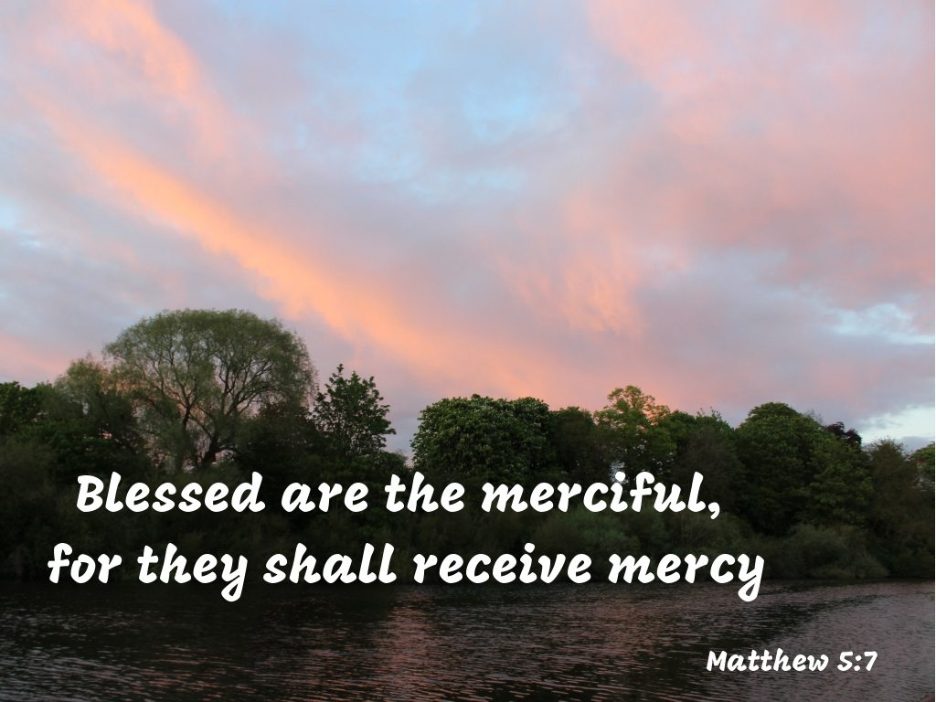 The mercy of God, Blessed are the merciful, for they shall receive mercy