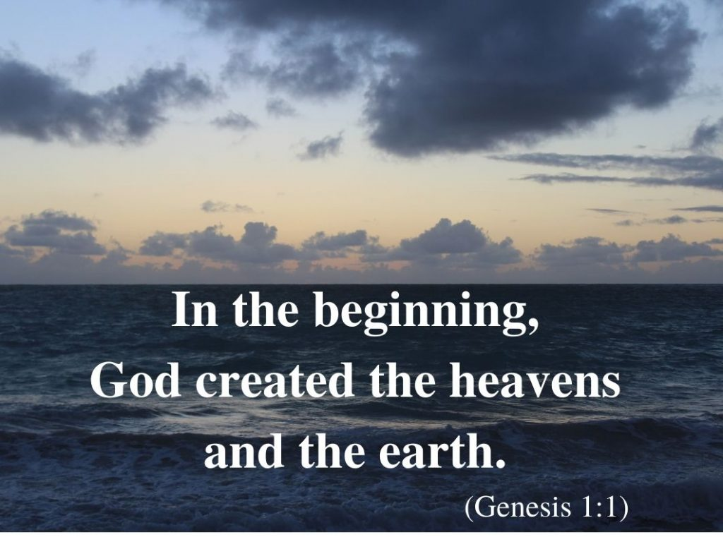 Creation of heaven earth
